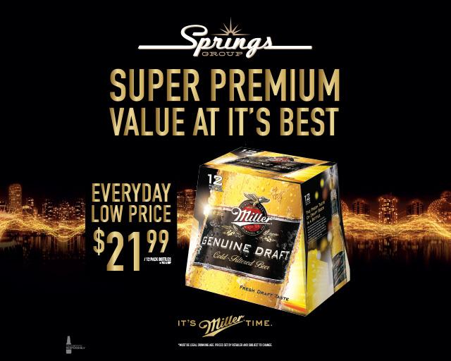 Everyday low price on Miller Genuine Draft