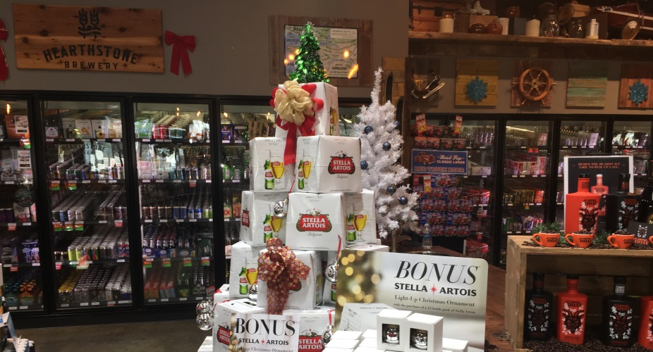 Dollarton tree display Stella Artois