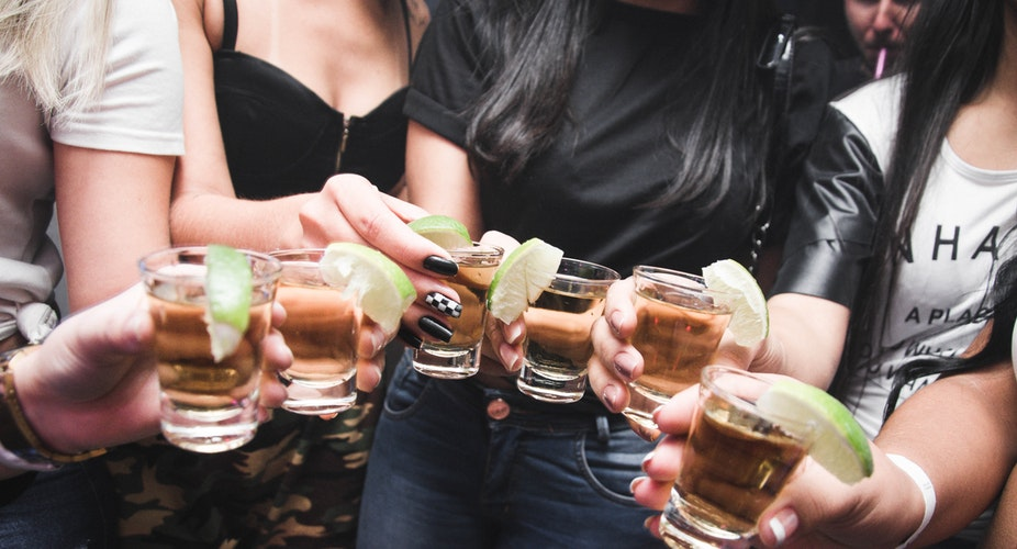 Tequila shots for Cinco De Mayo