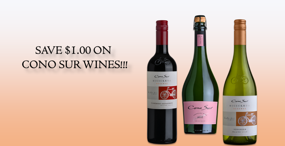 Cono Sur wines specials