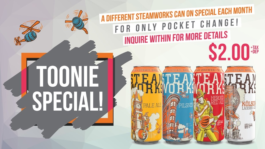 Toonie Tuesday Steamworks Special