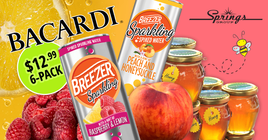 Bacardi Peach Honey Breezer