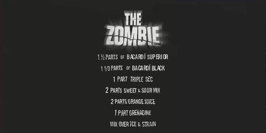 The Zombie drink recipe