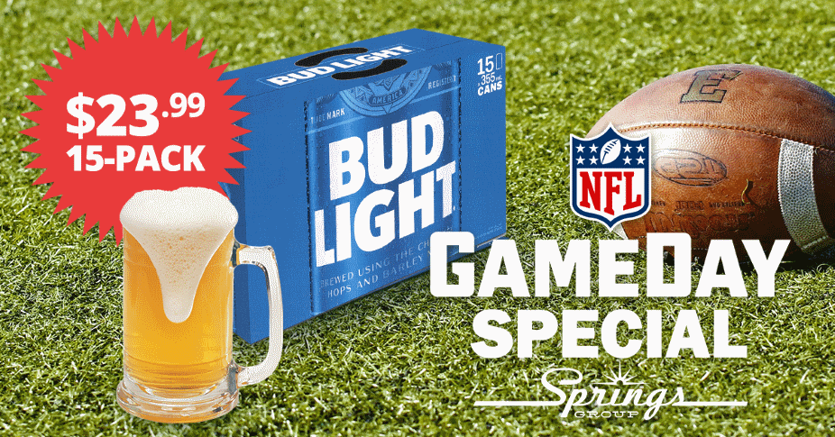 Budlight NFL Game Day Special