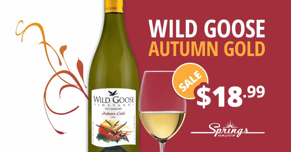 Wine Sale Deal - Wine Goose Autumn Gold Wine