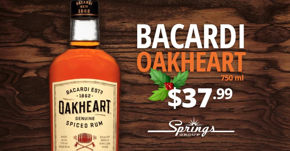 Bacardi Oakheart sale