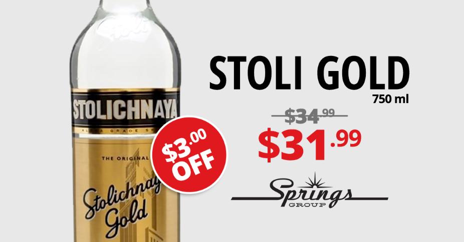 Stoli Gold sale