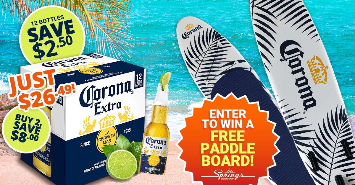 Free Paddle Board Corona Giveaway