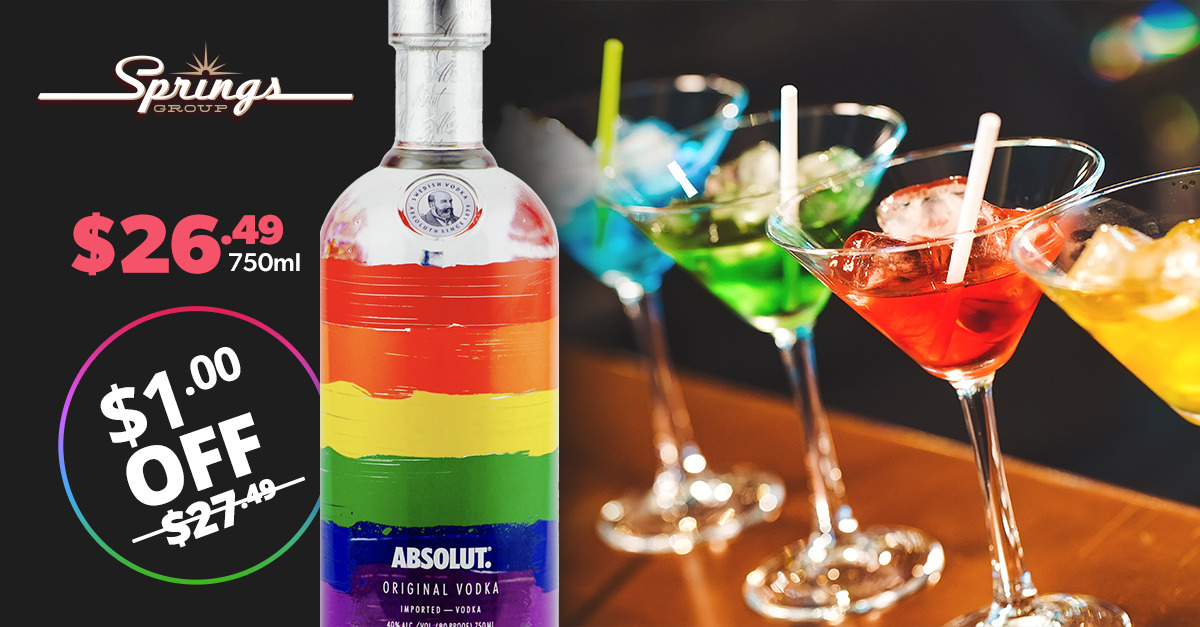 Absolute Vodka Pride bottle