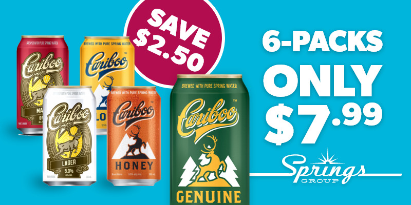 Cariboo 6-packs on sale