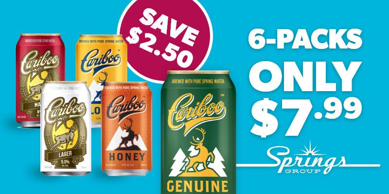 Cariboo 6-packs on sale