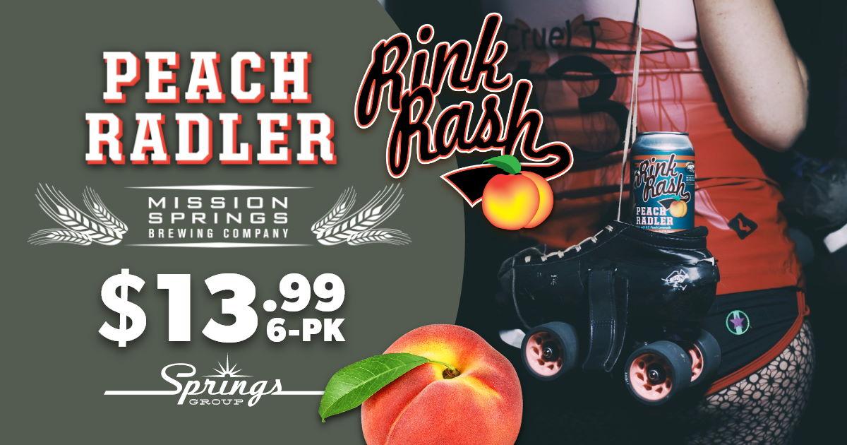 Mission Springs peach radler rink rash