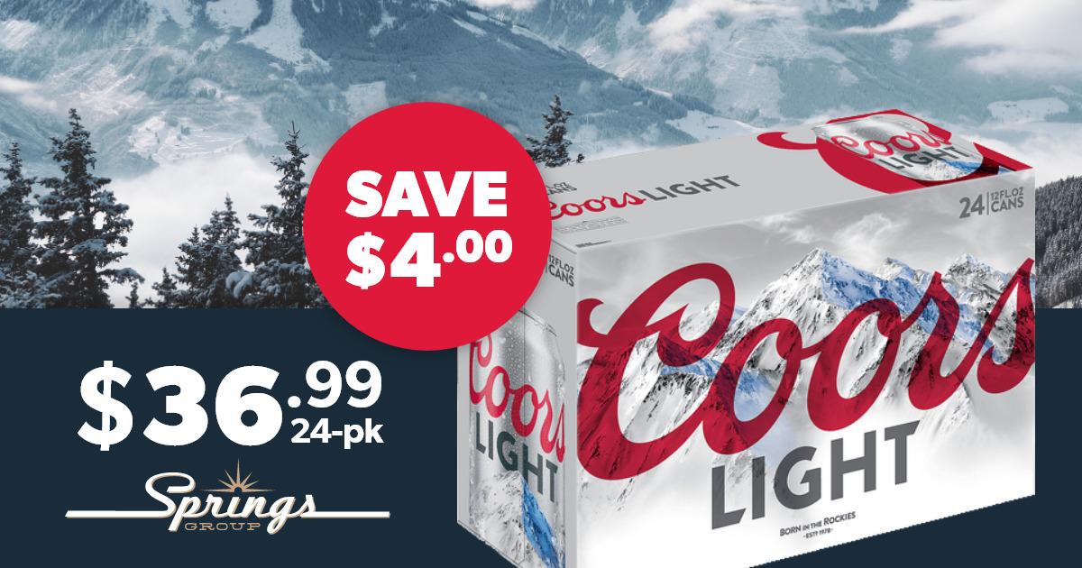 Coors Light on sale
