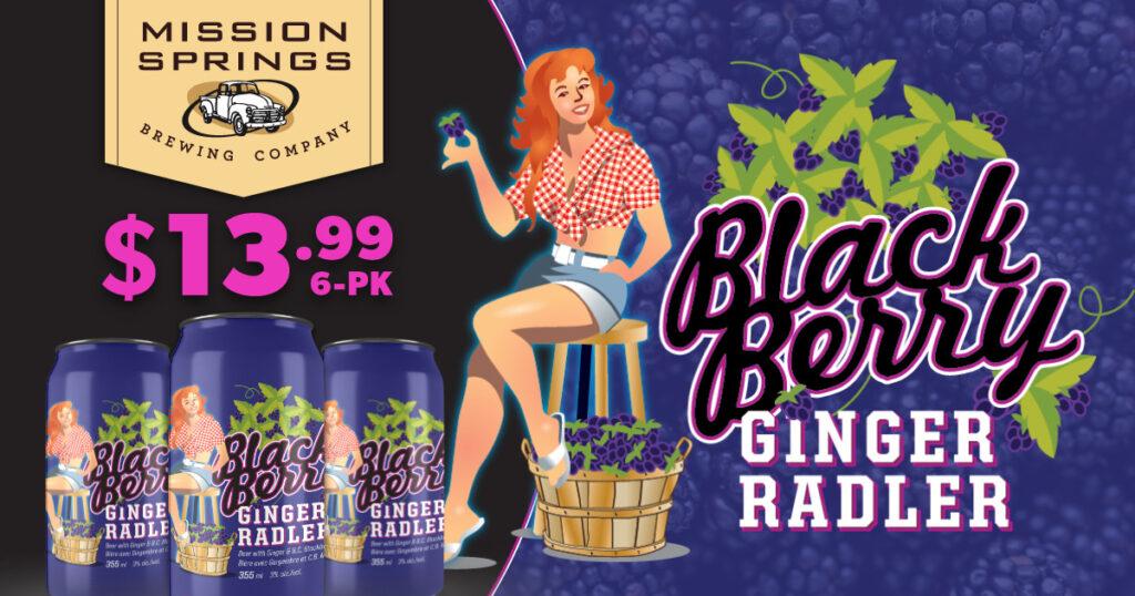 Blackberry Radler from Mission Springs