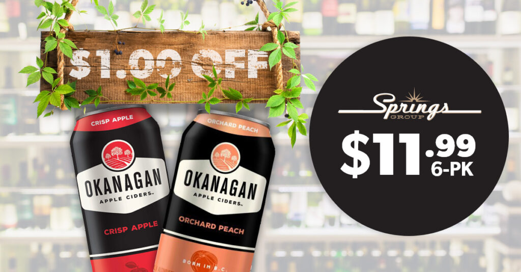 Okanagan Ciders on sale